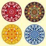 Декоративные орнаментальные установленные круги Стоковые Фотографии RF