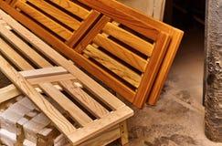 Декоративные панели для сауны Детализирует деревянную продукцию Стоковое Изображение
