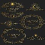 Декоративные рамки в винтажном восточном стиле Иллюстрация вектора