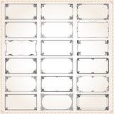 Декоративные рамки и пропорции прямоугольника 2x1 границ установили 4 Стоковые Фотографии RF