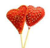 Декоративные ручной работы сердца изолированные на белой предпосылке Стоковое Изображение RF