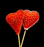 Декоративные ручной работы сердца Стоковые Изображения