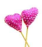 Декоративные ручной работы сердца Стоковое Изображение