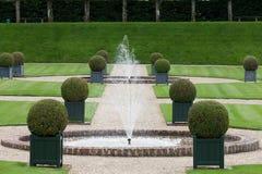 Декоративные сады на замках в Франции стоковое фото rf