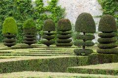 Декоративные сады на замках в Франции стоковые изображения