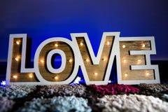 Декоративные света влюбленности Стоковое Изображение