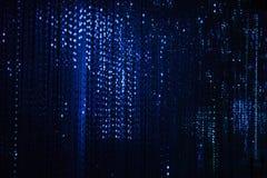 Декоративные светлые гирлянды стоковая фотография rf