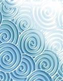 декоративные свирли моря Стоковое Изображение RF