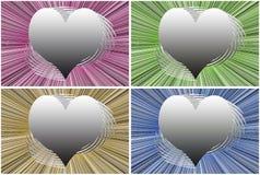 Декоративные сердца влюбленности Стоковая Фотография