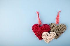 Декоративные сердца Валентайн Стоковые Фотографии RF