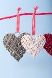 Декоративные сердца Валентайн Стоковое Изображение RF