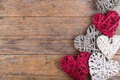 Декоративные сердца Валентайн Стоковая Фотография