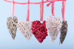 Декоративные сердца Валентайн Стоковая Фотография RF