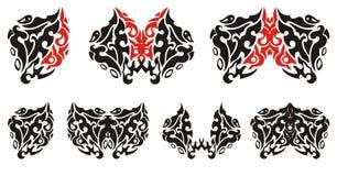 Декоративные сердце и бабочки от его Стоковые Фото