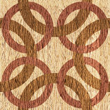 Декоративные смешанные круги - безшовная предпосылка - внутреннее Desi иллюстрация штока