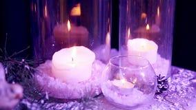 Декоративные стеклянные свечи видеоматериал