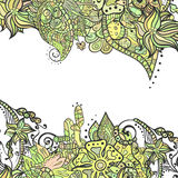 Декоративные углы элемента Абстрактная карточка приглашения Шаблон w Стоковые Фотографии RF
