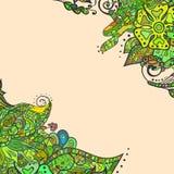 Декоративные углы элемента Абстрактная карточка приглашения Шаблон w Стоковые Изображения RF