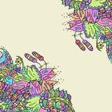 Декоративные углы элемента Абстрактная карточка приглашения Шаблон w Стоковая Фотография