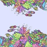Декоративные углы элемента Абстрактная карточка приглашения Стоковая Фотография RF