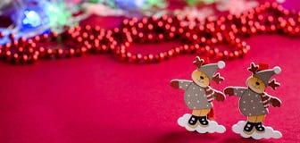 Декоративные украшения рождества северного оленя figurines Стоковые Изображения