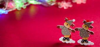 Декоративные украшения рождества северного оленя figurines Стоковое Изображение