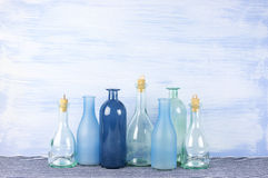 Декоративные установленные бутылки Стоковое Изображение