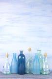 Декоративные установленные бутылки Стоковое Изображение RF