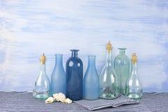 Декоративные установленные бутылки Стоковая Фотография
