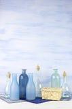 Декоративные установленные бутылки Стоковые Фотографии RF