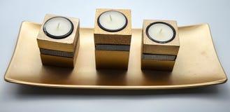 Декоративные установленные свечи Стоковое Фото