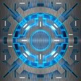Декоративные футуристические предпосылки цвета иллюстрация 3d Иллюстрация вектора