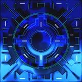 Декоративные футуристические предпосылки цвета иллюстрация 3d Иллюстрация штока