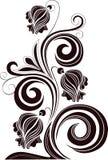 Декоративные цветки на белой предпосылке Стоковые Изображения RF