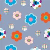 Декоративные цветки на серой предпосылке иллюстрация штока