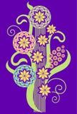 Декоративные цветки иллюстрация вектора