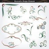 Декоративные элементы 5 дизайна Стоковое Изображение RF