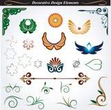 Декоративные элементы 12 дизайна Стоковые Фотографии RF