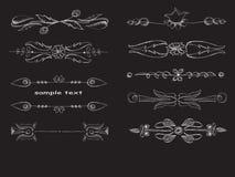 Декоративные элементы - линии Стоковые Фотографии RF
