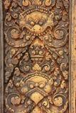 Декоративные carvings стены, висок Banteay Srey, зона Angkor, Siem Reap, Камбоджа Стоковое Фото
