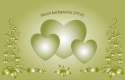 Декоративные monochrome флористические сердца Вектор Eps10 Стоковые Изображения RF