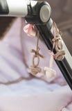 Декоративные pacifiers вязания крючком Стоковые Фотографии RF