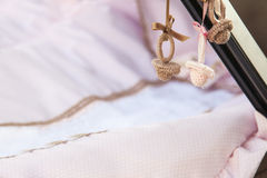 Декоративные pacifiers вязания крючком Стоковые Фото