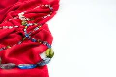 Декоративные pleats и шарики нежности ткани предпосылки стоковые изображения rf