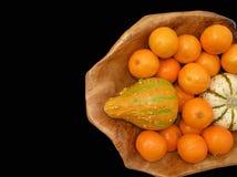 декоративные tangerines тыкв Стоковые Изображения RF