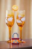 Декоративные wedding стекла Стоковые Фотографии RF