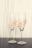 Декоративные 2 wedding стекла Стоковые Фото