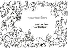 Декоративный ландшафт с деревьями Стоковые Фото