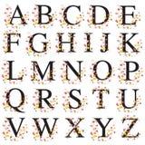 Декоративный алфавит иллюстрация вектора