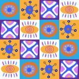 Декоративный безшовный этнический африканский орнамент бесплатная иллюстрация